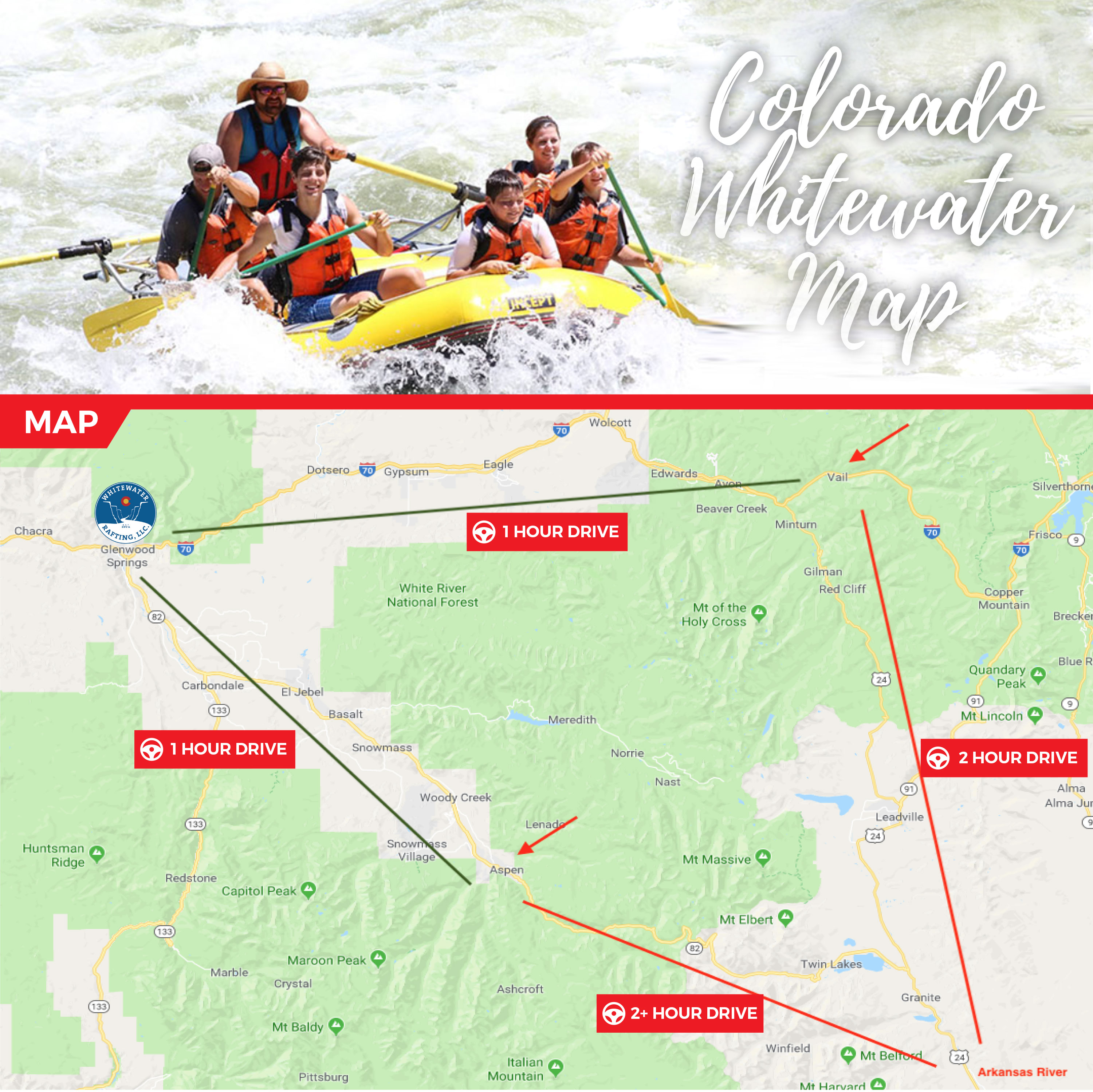 Aspen Colorado Whitewater River Rafting Trips Half Day Full Day